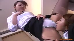 Stewardess Licked And Fingered While Standing By Other Stewardess In The Hotel R
