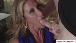 Cougar Farrah Dahl and friend Janet Mason rides on a big cock