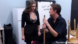 The office slut fucked with the dirty cleaner after dinner
