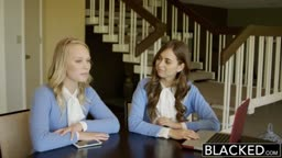 BLACKED Two Teen Girls Share a Huge BBC -