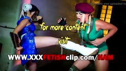 Sex Lesbian Fighter Chun Li vs. Cammy (XXX Parody)