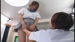 Japanese Schoolgirl Messes With Other Girl Already Wetting Herself